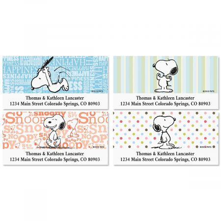 Snoopy Fun™ Deluxe Address Labels (4 Designs)