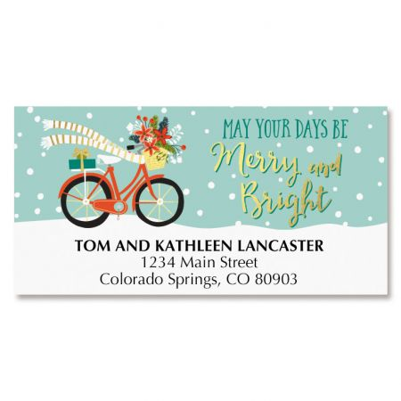 Bicycle Holiday Address Labels