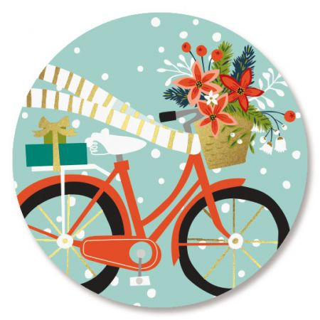 Bicycle Holiday Seals