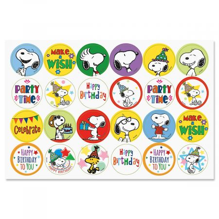 PEANUTS® Birthday Seals