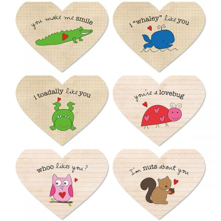 Diecut Heart Valentines