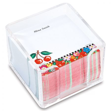 Mary Engelbreit's Personalized Cheery Cherry Note Sheets in a Cube