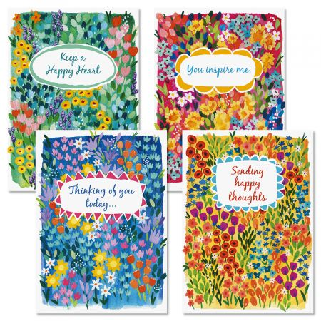 Floral Garden Birthday Cards and Seals