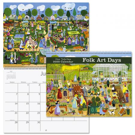 2020 Folk Art Days Wall Calendar