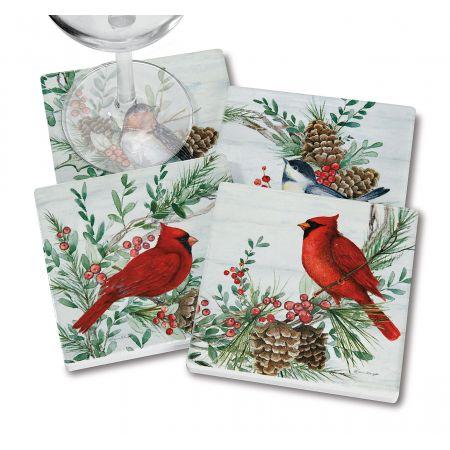 Cardinal Woodland Coasters