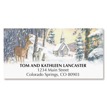 Evening Church Deluxe Address Labels