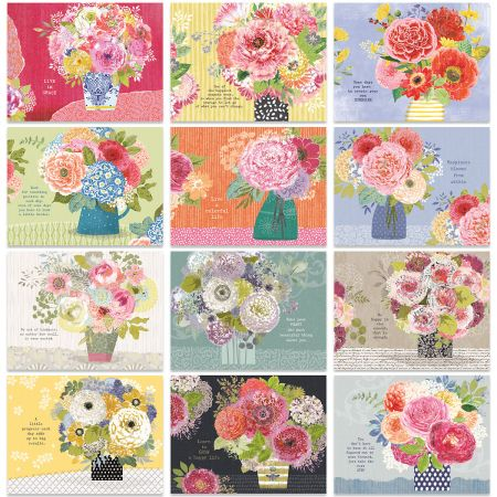 2020 Painted Bouquet Wall Calendar