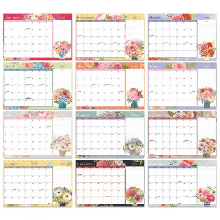 2019-2020 Painted Bouquet Calendar Pad