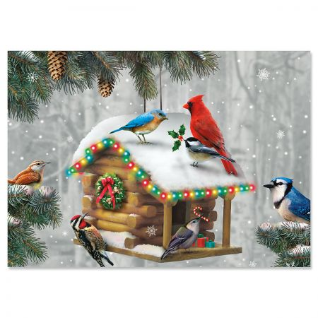 Festive Feathered Friends Christmas Cards