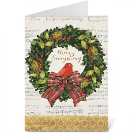 Merry Wreath Christmas Cards