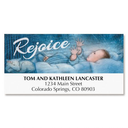 Savior Is Born Deluxe Address Labels