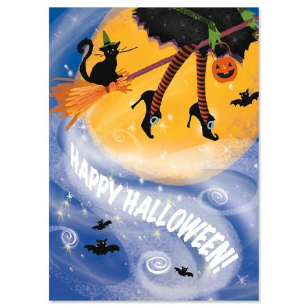 Witch Legs Halloween Cards