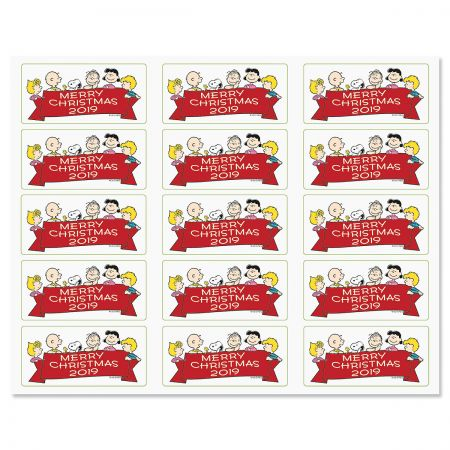 PEANUTS® Merry Christmas Banner Stickers