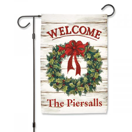 Christmas Welcome Personalized Garden Flag
