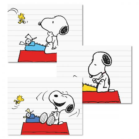 Snoopy's Typewriter Note Cards