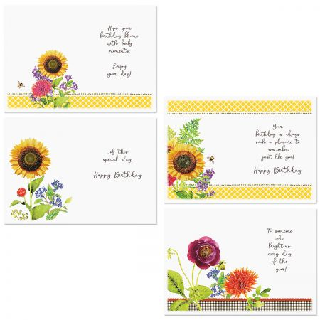 Sunflower Birthday Cards and Seals