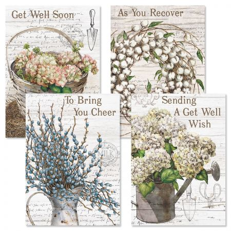 Farmhouse Get Well Cards and Seals