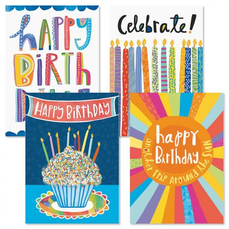 Brights Birthday Cards and Seals