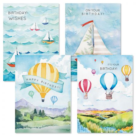 Sky and Sea Birthday Cards and Seals