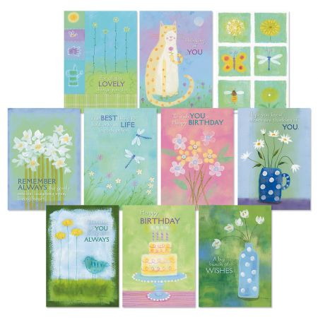 Pastel Blooms All Occasion Greeting Cards Value Pack