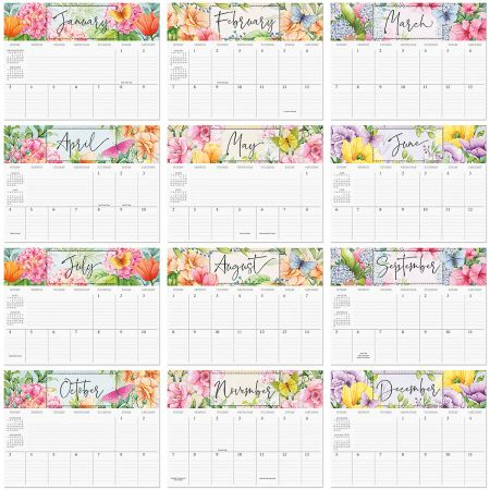 2021 Watercolor Garden Big Grid Planning Calendar
