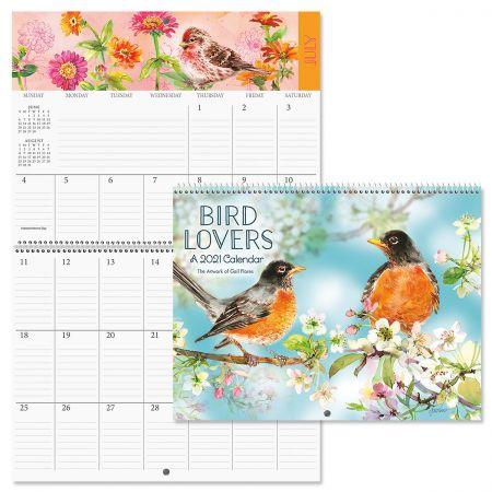 2021 Bird Lovers Big Grid Planning Calendar