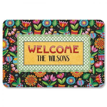 Mary Engelbreit® Personalized Floral Welcome Mat