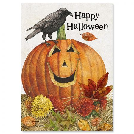 Jack-O-Lantern Halloween Cards
