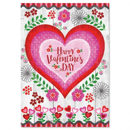 Lovely Heart Valentine's Day Cards