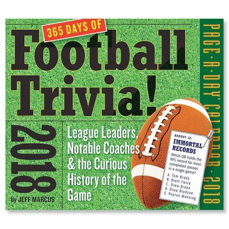 2018 Sports Trivia Calendar - Football