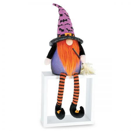 Lit Belly Halloween Gnome