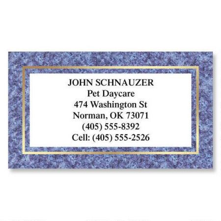 Granite & Gold Business Cards