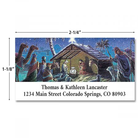 Nativity Deluxe Address Labels