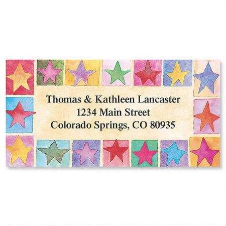 Stars on Parade Border Address Labels