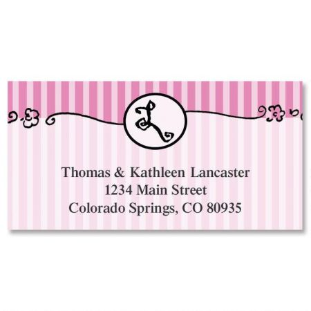 Parisian Initial Deluxe Address Labels