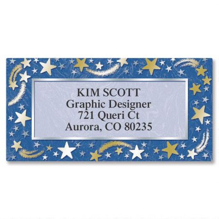 Stars Border Address Labels