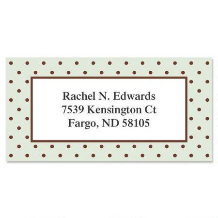 Celadon Border Address Labels