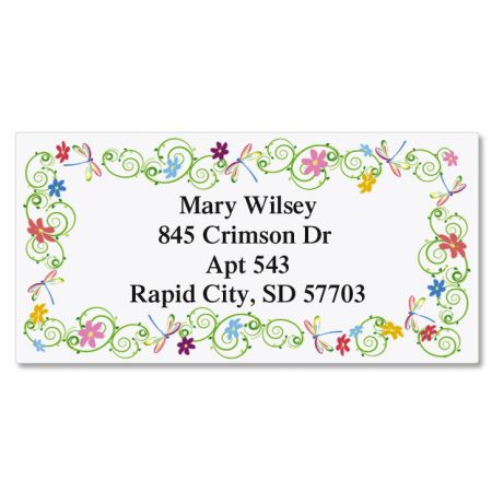 Dragonflies Border Address Labels