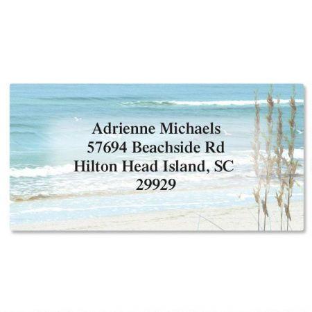 Seashore Border Address Labels