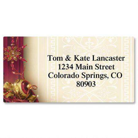 Glittering Garnets Border Address Labels