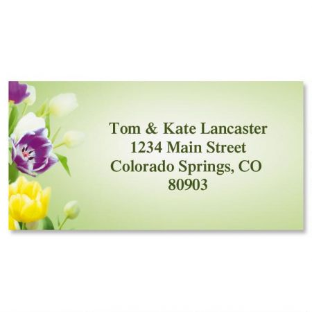Fresh Tulips Border Address Labels