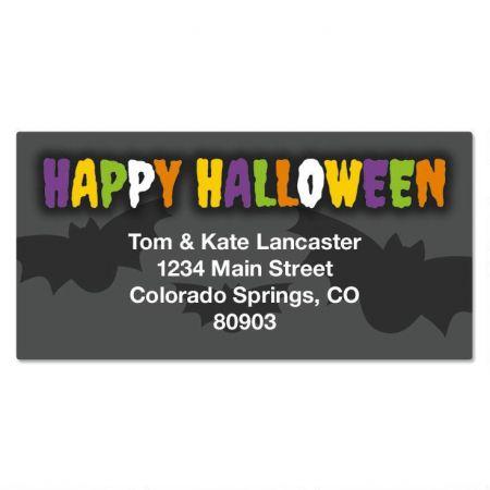 Spellbound Halloween Border Address Labels