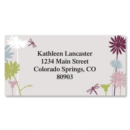 Dragonfly Border Address Labels