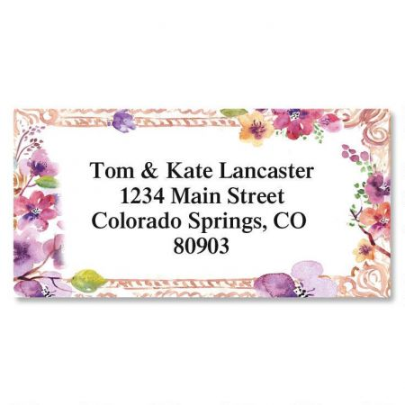 Floral Frame Border Address Labels