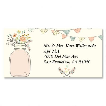 Mason Jar Border Address Labels  Current Catalog