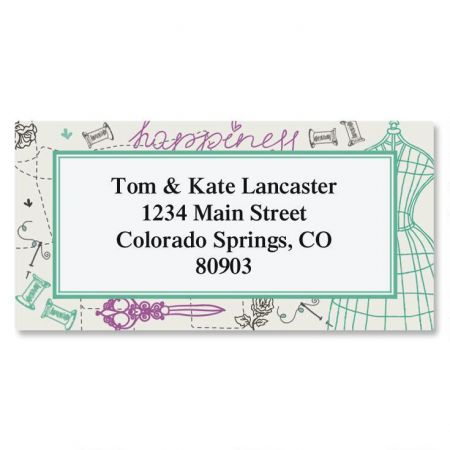 Sew Happy Border Address Labels