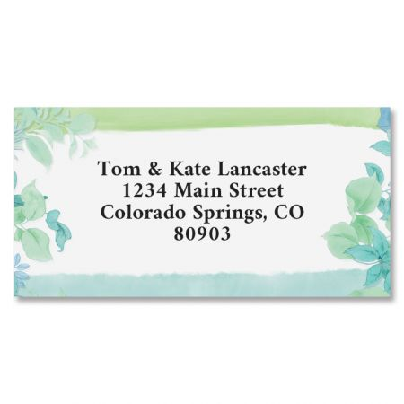 Fresh Garden Border Address Labels