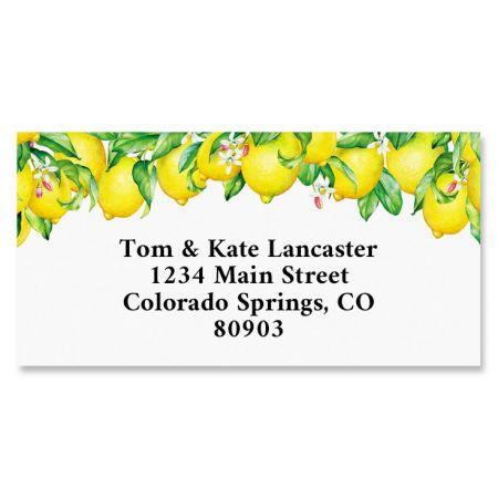 Blooming Lemons Border Address Labels