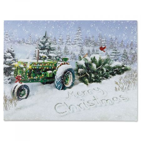 Lighted Tractor Canvas