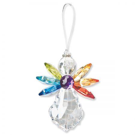 Rainbow Angel Acrylic Ornament